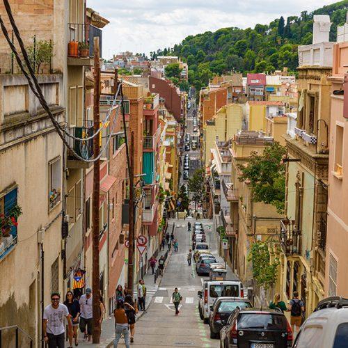 Street scenes in Barcelona City