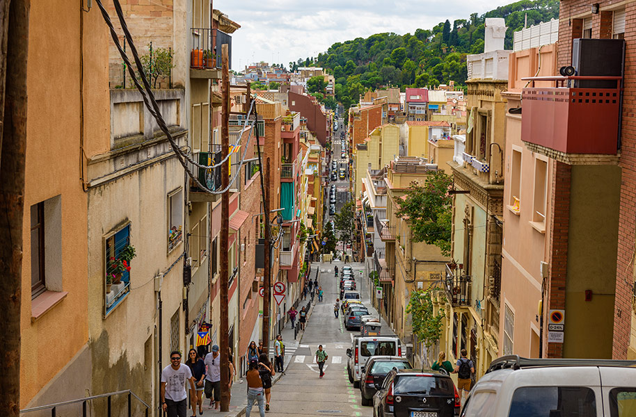 Street scenes in Barcelona City