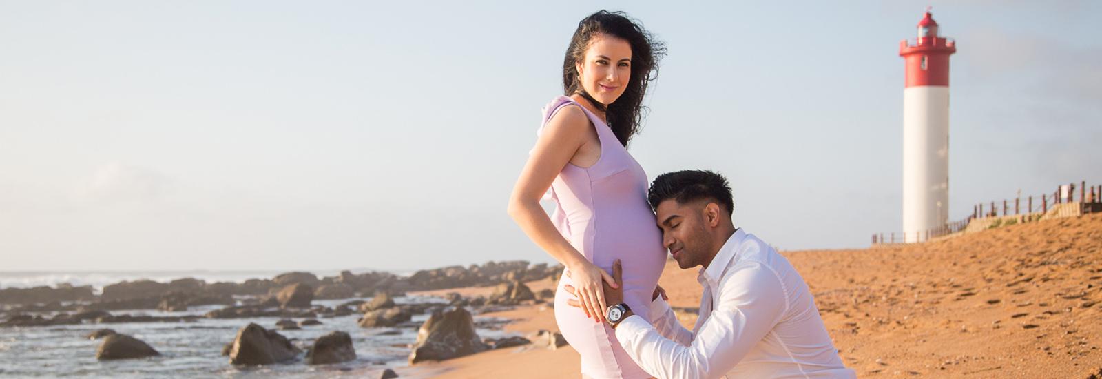 Sunrise Maternity Photoshoot at Umhlanga Beach