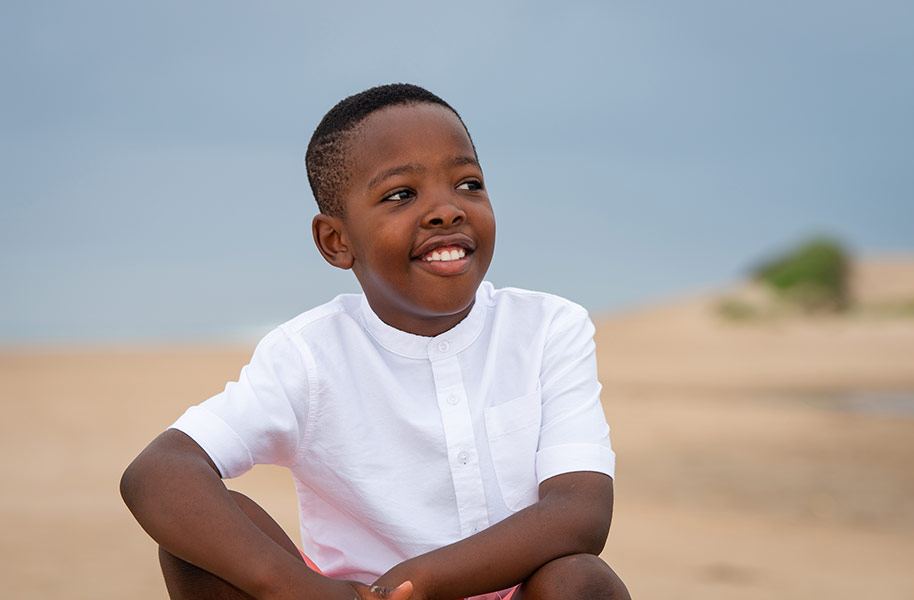 Family Portraits Young Boy on the beach