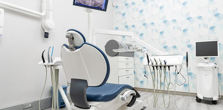 corporate photography showing dentist chair and other equipment