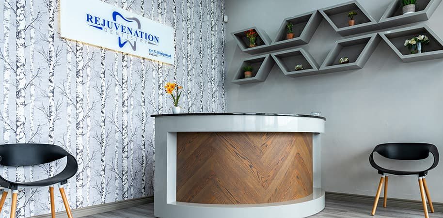 corporate photography of dentist reception area