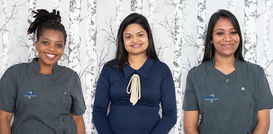 corporate photography showing staff portraits of dentist and assistants