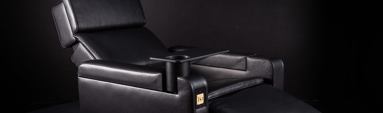 Corporate product photography of luxury cinematic seating