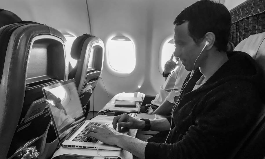 Video Editing on a plane