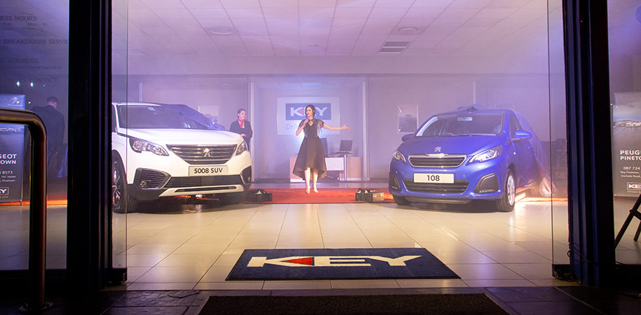 the unveiling of new Peugeot models at Peugeot car launch corporate photography videography