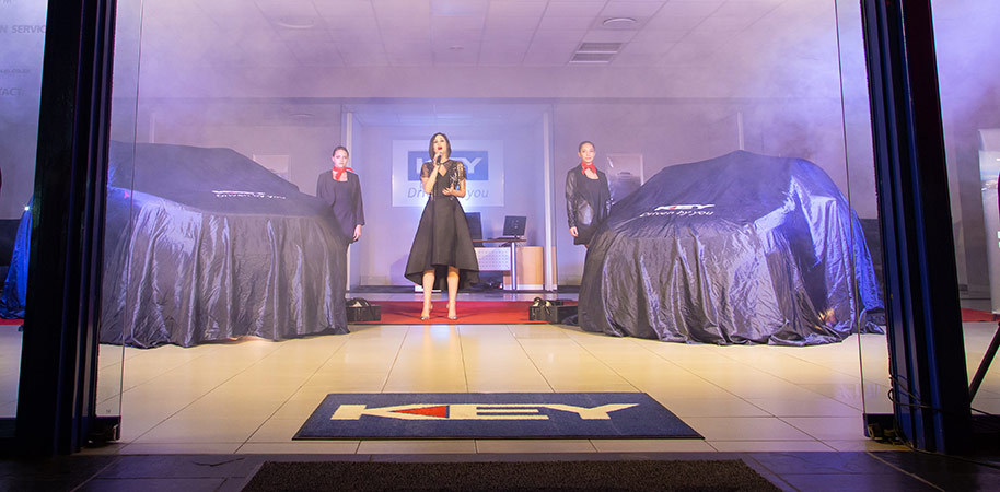 the unveiling ceremony at Peugeot car launch corporate photography videography