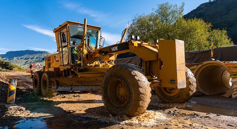construction machinery working in the mud construction photography videography