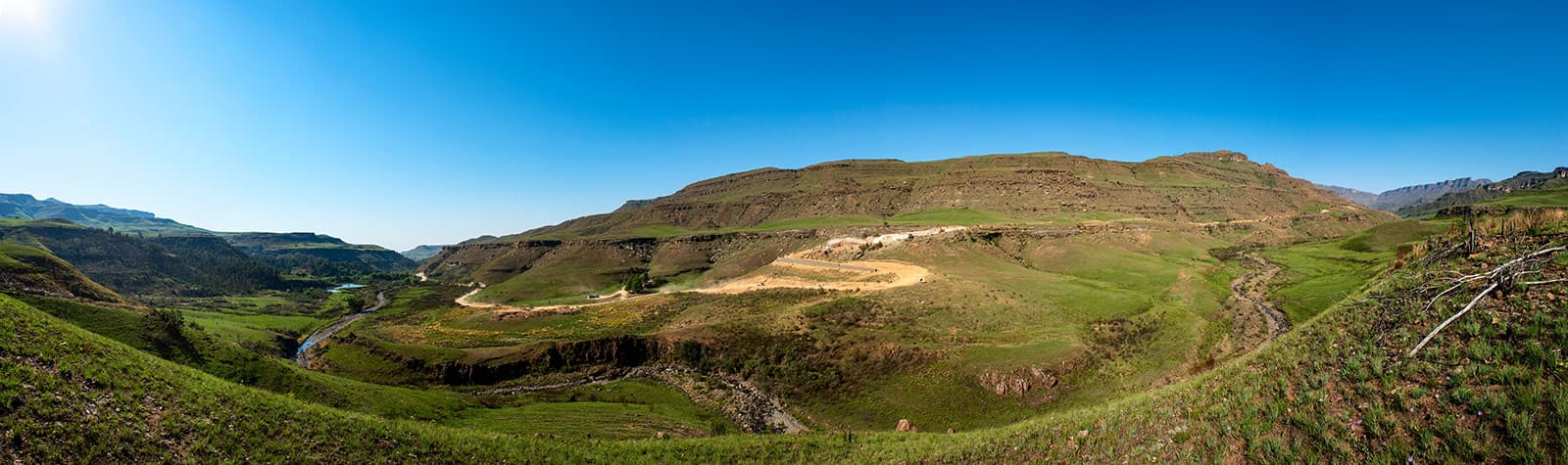 Construction photography and videography of Sani Pass road upgrade