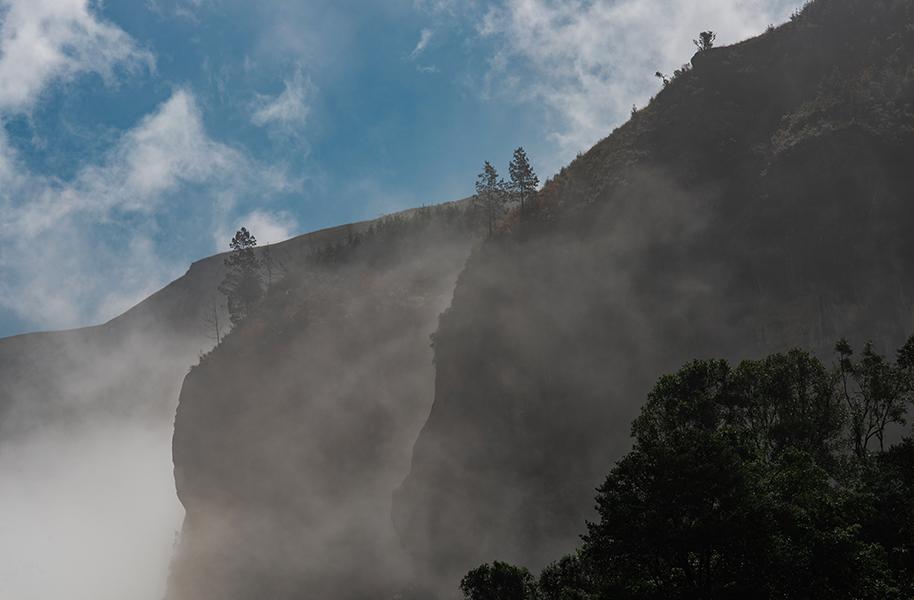 mountain views through the clouds